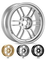 "Enkei RPF1 Wheel - 17x8"" 5x100 / 5x114.3 Silver/Gold"