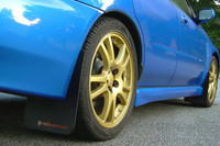 Rally Armor Black/Red Classic  Mud Flaps - 2002-2007 Subaru Impreza WRX/STI