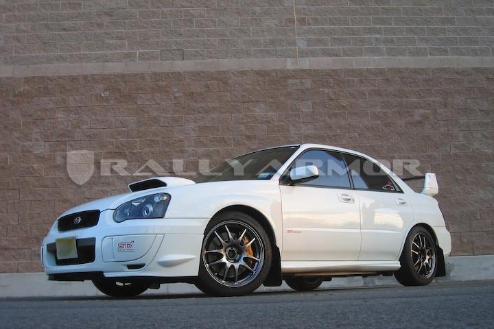 Rally Armor Blackred Urethane Mud Flaps 2002 2007 Subaru Impreza