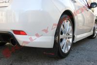 Rally Armor Black/Red Urethane Mud Flaps - 2008-11 Subaru Impreza WRX