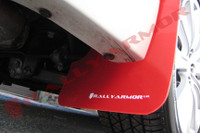 Rally Armor Red/White Urethane  Mud Flaps - 2008-11 Subaru Impreza WRX