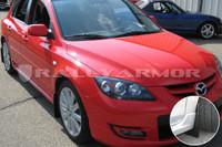 Rally Armor Black/Black Basic Mud Flaps - 2004-2009 Mazda3/Speed 3