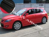 Rally Armor Black/Grey Urethane  Mud Flaps - 2004-2009 Mazda3/Speed 3