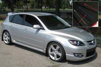 Rally Armor Black/Blue Urethane  Mud Flaps - 2004-2009 Mazda3/Speed 3