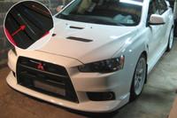 Rally Armor Black/Silver Urethane  Mud Flaps - 2008+ Mitsubishi EVO X