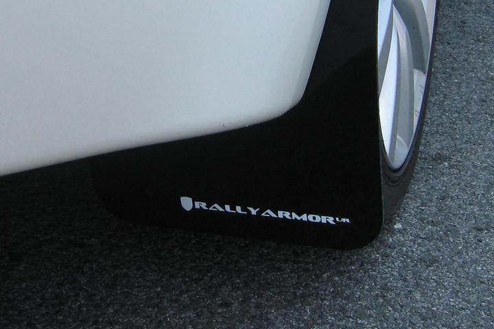 2008+ Mitsubishi EVO X UR Rally Armor MF10-UR-RD//WH Red White Mud Flap with Logo