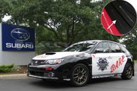 Rally Armor Black/Grey Urethane  Mud Flaps - Version 2 2008-2011 Subaru STI & 2011 WRX