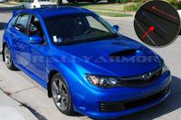 Rally Armor Black/Blue Urethane  Mud Flaps - Version 2 2008-2011 Subaru STI & 2011 WRX