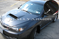 Rally Armor Black/Silver Urethane  Mud Flaps - Version 2 2008-2011 Subaru STI & 2011 WRX