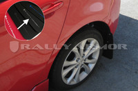 Rally Armor Black/Silver Urethane  Mud Flaps - 2010+ Mazda3/Speed3