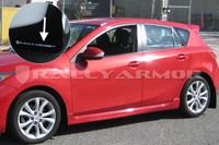 Rally Armor Black/White Urethane  Mud Flaps - 2010+ Mazda3/Speed3