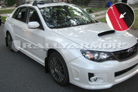 Rally Armor Red/White Urethane  Mud Flaps - 2011+ Subaru STI/WRX