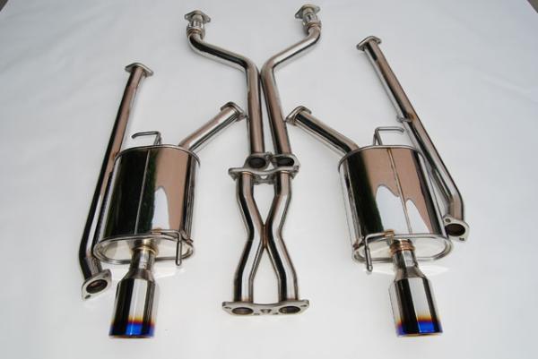 Invidia Nissan 07-Up G35 4Door Q300 Rolled Titanium Tips Cat-Back Exhaust 07-UP
