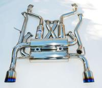Invidia Nissan 370Z Gemini Single Layer Titanium Tips Cat-Back Exhaust 09-UP