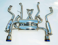 Invidia Nissan G37 Coupe Gemini Rolled Titanium  Tips Cat-Back Exhaust 07-UP