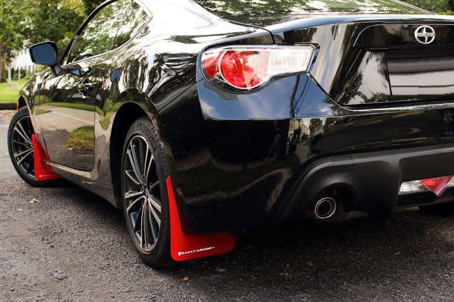 Rally Armor Red White Urethane Mud Flaps Scion Fr S