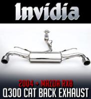 Invidia Q300 Cat-Back Exhaust - Mazda RX-8 04+