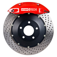StopTech BBK (Big Brake Kit) - Honda Civic LX Sedan w/ ABS & A/T - 1996-1996 - Drilled Front 328x28