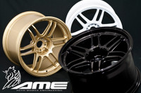 "AME TM02 Limited Taper Wheel - 18x11"" +10 5x114.3 Gloss Black, Gold, Gun Black, White"