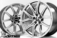 "AME FS01 Wheel - 18x10"" +25 5x114.3 Gloss Black, Hyper Silver"