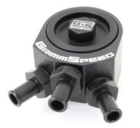 Air Oil Separator Black - Subaru 08+ WRX/ ALL LGT