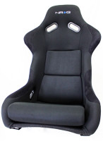 NRG Fiberglass Fixed Back Bucket Seat - Black