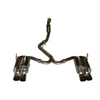 "TurboXS Catback Exhaust System; Quad 4"" Blued Tips; 2011-2012 Subaru WRX/STi Sedan"