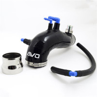 AVO Black Silicone Turbo Inlet - 08+ STI