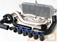 AVO Front Mount Intercooler w/ Black Piping - 06-07 Subaru WRX/STI