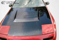 1986-1991 Mazda RX-7 Carbon Creations Carbon Fiber D-1 Style Hood