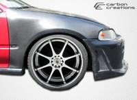 1992-1995 Honda Civic 4DR Carbon Creations Carbon Fiber OEM Fenders - 2 Pieces