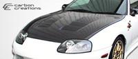 1993-1998 Toyota Supra Carbon Creations Carbon Fiber TS-1 Hood