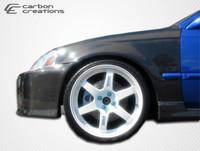 1996-1998 Honda Civic Carbon Creations Carbon Fiber OEM Fenders - 2 Pieces