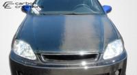 1996-1998 Honda Civic Carbon Creations Carbon Fiber OEM Hood -
