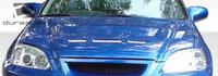 1996-1998 Honda Civic Duraflex Predator Hood -