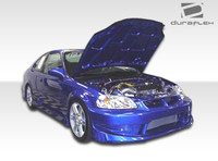 1999-2000 Honda Civic 2DR Duraflex Bomber Body Kit - 4 Pieces