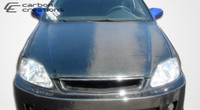 1999-2000 Honda Civic Carbon Creations Carbon Fiber OEM Hood -