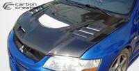 2003-2006 Mitsubishi Evolution 8 / Evolution 9 Carbon Creations Carbon Fiber C-1 Style Hood