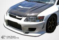2003-2006 Mitsubishi Evolution 8 / Evolution 9 Carbon Creations Carbon Fiber Vader 2 Hood