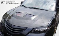 2004-2009 Mazda 3 4DR Carbon Creations Carbon Fiber EVO Hood -