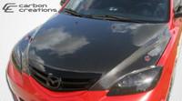 2004-2009 Mazda 3 HB Carbon Creations Carbon Fiber OEM Hood -