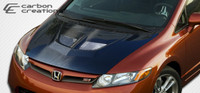 2006-2011 Honda Civic 2DR Carbon Creations Carbon Fiber Evo Hood -