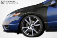 2006-2011 Honda Civic 2DR Carbon Creations Carbon Fiber OEM Fenders - 2 Pieces