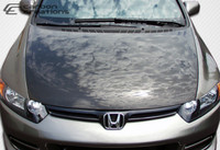 2006-2011 Honda Civic 2DR Carbon Creations Carbon Fiber OEM Hood -