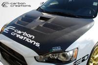 2008-2013 Mitsubishi Evolution X  Carbon Creations Carbon Fiber GT Concept Hood -