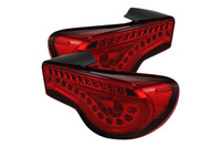 Spyder LED Tail Lights (JDM Red) - Scion FR-S / Subaru BRZ