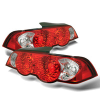 Acura RSX 02-04 LED Tail Lights - Red Clear