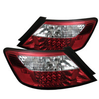 Honda Civic 06-08 2Dr LED Tail Lights - Red Clear