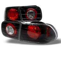 Honda Civic 92-95 2/4DR Euro Style Tail Lights - Black