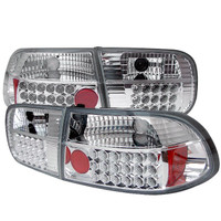 Honda Civic 92-95 2/4DR LED Tail Lights - Chrome